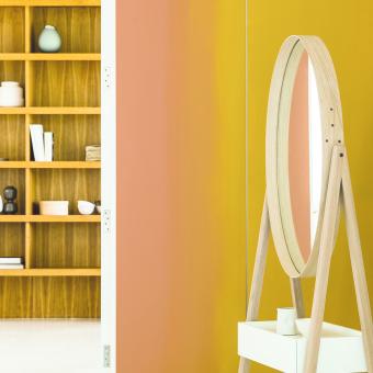 gul orange ombre spegel